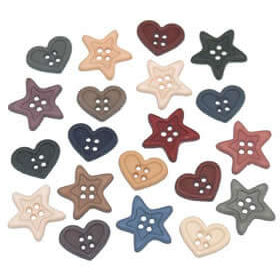 Hearts & Stars Buttons