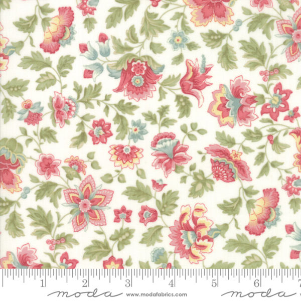 fabric-contessa-PORCELAIN - Floral Flourish Multi